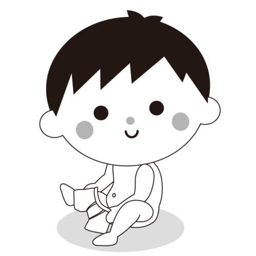 パンツ 穿く 子供 かわいい イラスト フリー 無料 白黒 モノクロ