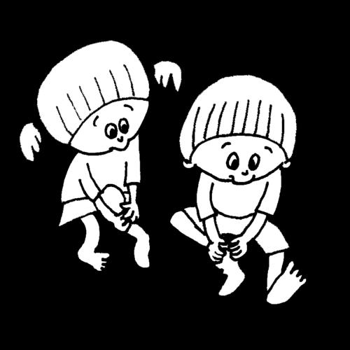 靴下 履く練習 子供 かわいい イラスト フリー 無料 白黒 モノクロ