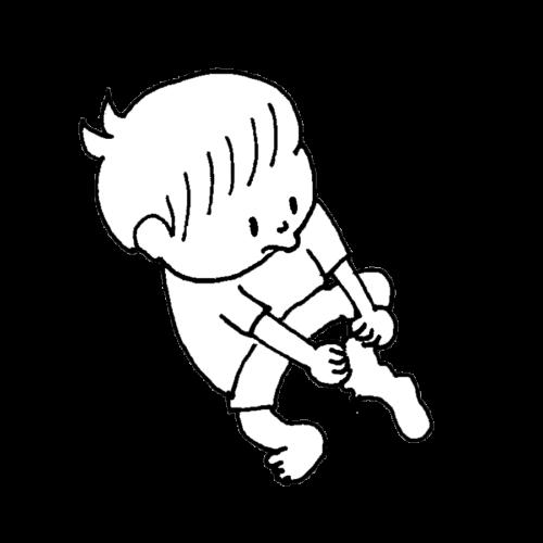子供 靴下 履く かわいい イラスト フリー 無料 白黒 モノクロ