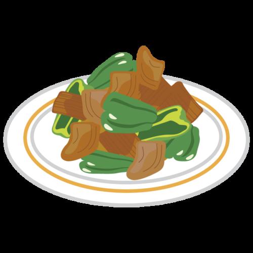 ピーマン 野菜炒め かわいい イラスト フリー 無料
