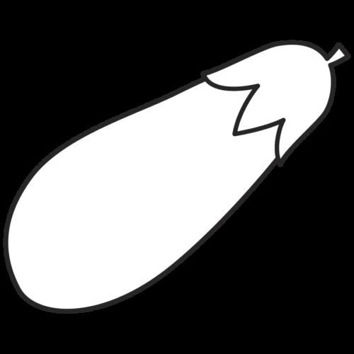 なすび かわいい イラスト フリー 無料 白黒 モノクロ