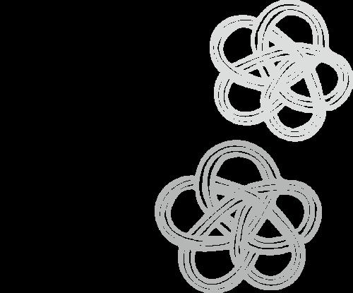 梅 組紐 かわいい イラスト フリー 無料 白黒 モノクロ