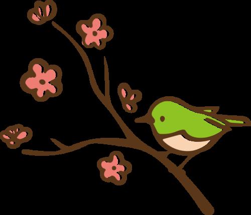 梅 うぐいす かわいい イラスト フリー 無料