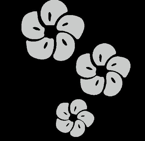 梅 かわいい イラスト フリー 無料 白黒 モノクロ