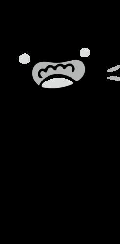 幼稚園 うがい 子供 かわいい イラスト フリー 無料 白黒 モノクロ