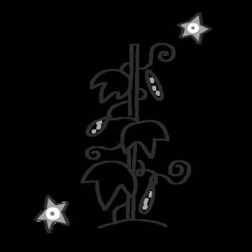 きゅうり 育てる かわいい イラスト フリー 無料 白黒 モノクロ