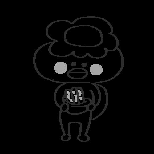 きゅうり カッパ かわいい イラスト フリー 無料 白黒 モノクロ