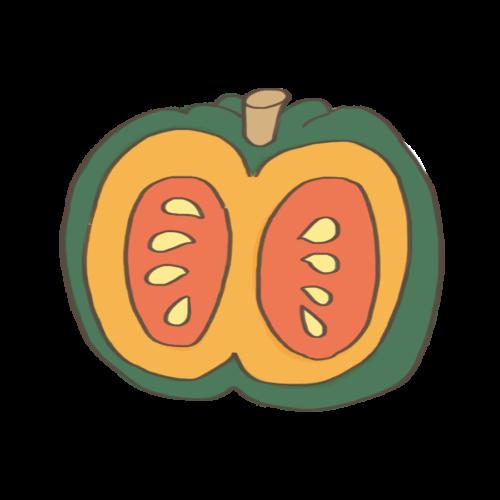 かぼちゃ カット イラスト フリー 無料