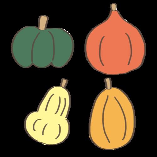 種類 かぼちゃ イラスト フリー 無料