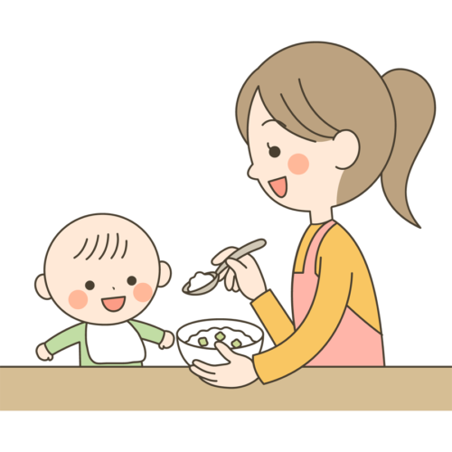離乳食 赤ちゃん かわいい イラスト フリー 無料