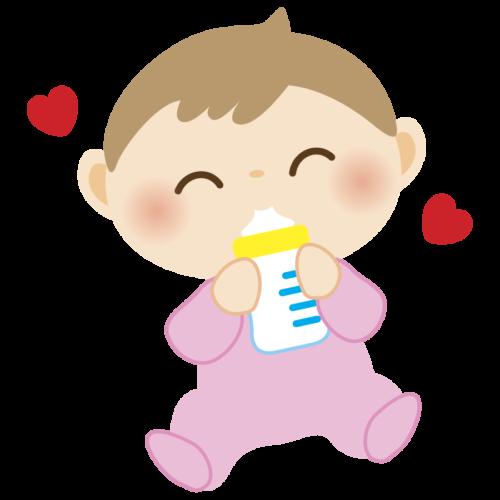 哺乳瓶 ミルク 赤ちゃん かわいい イラスト フリー 無料