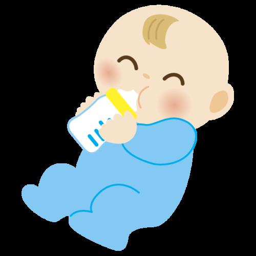 ミルク 赤ちゃん 飲む  かわいい イラスト フリー 無料