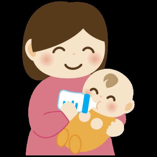ミルク お母さん 赤ちゃん  かわいい イラスト フリー 無料