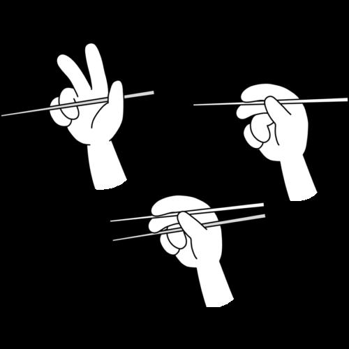 お箸 練習 持ち方 イラスト フリー 無料