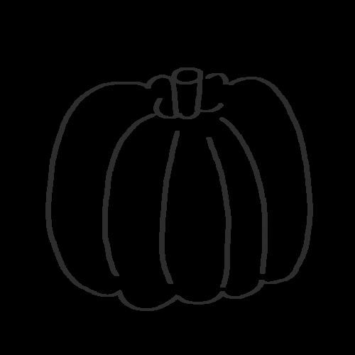 西洋かぼちゃ イラスト フリー 無料 白黒 モノクロ