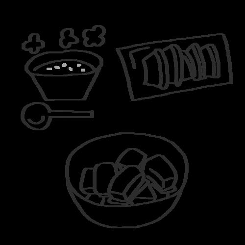 かぼちゃ 料理 イラスト フリー 無料 白黒 モノクロ