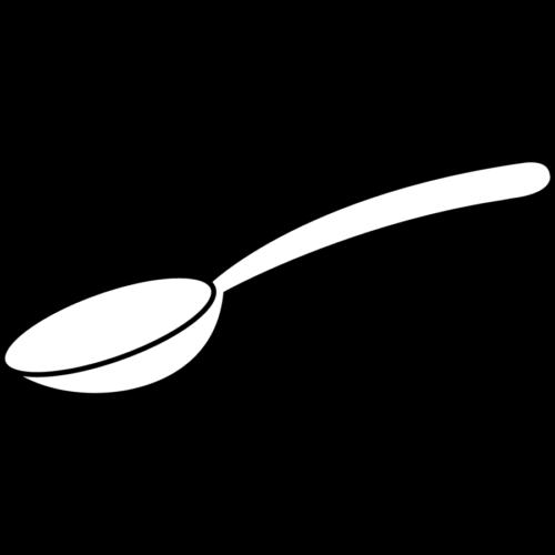 スプーン イラスト フリー 無料 白黒 モノクロ