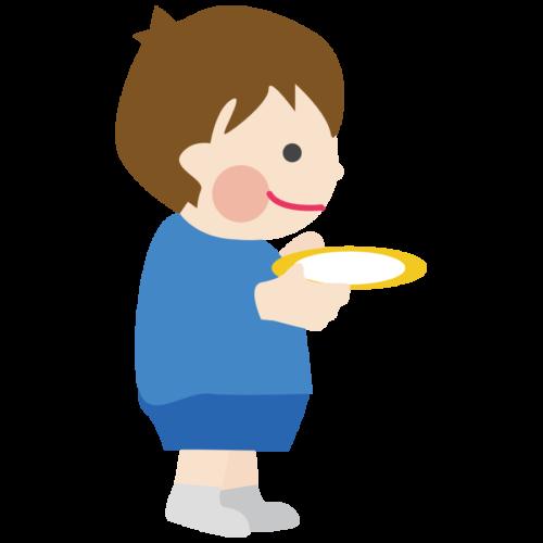 お皿 片付け 子供 かわいい イラスト フリー 無料
