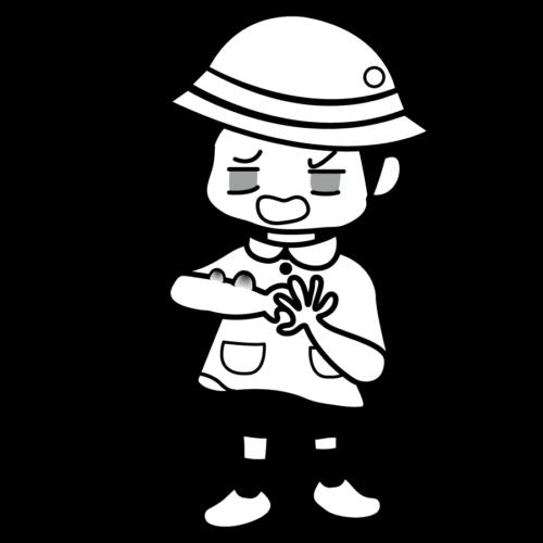 皮膚 水いぼ 園児 かわいい イラスト フリー 無料 白黒 モノクロ