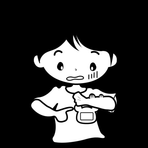 水いぼ 子供 かわいい イラスト フリー 無料 白黒 モノクロ